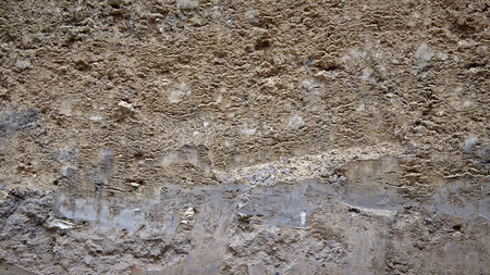 section texture Layered soil of earth underground
