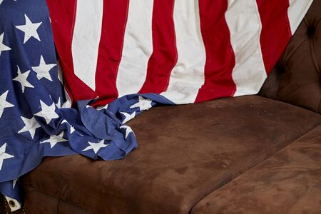 goverment: American flag for Memorial Day or 4th of July Stock Photo
