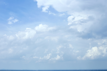 blue sky with clouds summer background