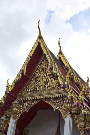 Temple of Reclining Buddha, Wat Pho, Bangkok, Thailand Stock Photo
