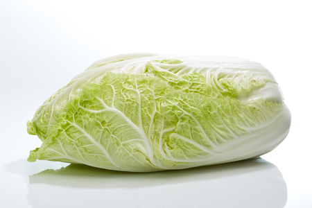bok choy: fresh chinese cabbage on a white background