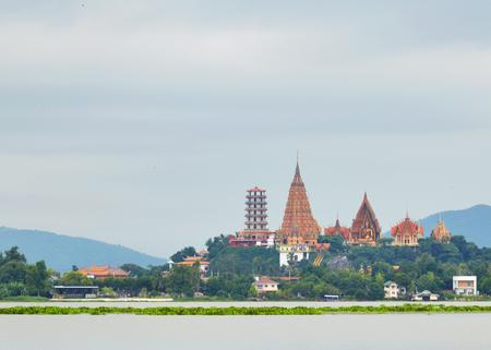 River barrier  Wat Tham Sua kanchanaburi province,Thailand