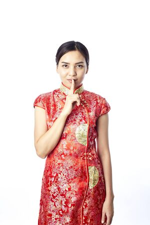 Asian girl greeting in traditional chinese new year stock photo asian girl greeting in traditional chinese new year stock photo 93797518 m4hsunfo