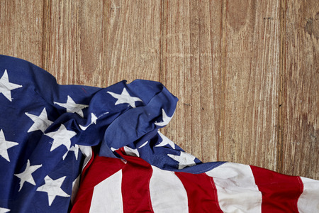 american flag wooden background.The Flag Of The United States Of America. The place to advertise, Presidents day USA Foto de archivo