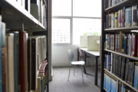 Blurred Books in Library doctrine window light  for background, Companionway