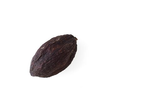 raw cocoa pod and beans isolated on a white background Standard-Bild - 97721321