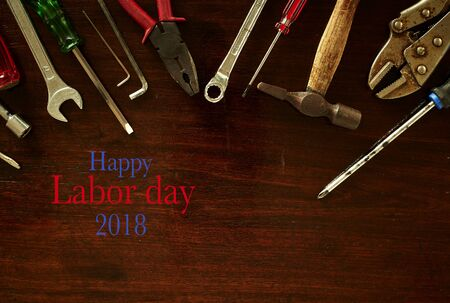 Labor day  Construction tools with copy space Stock Photo