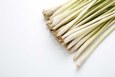 fresh Lemongrass with slice isolated on white background Stock Photo