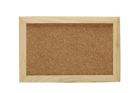 Blank Corkboard  isolated on White background Stock fotó