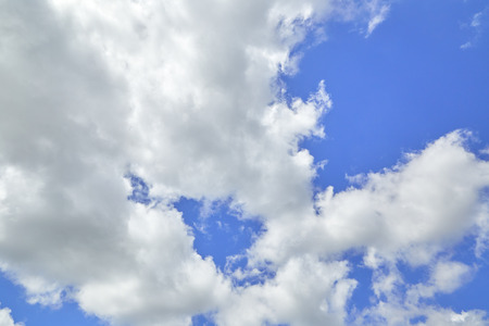 Beautiful white clouds in the sky nature background