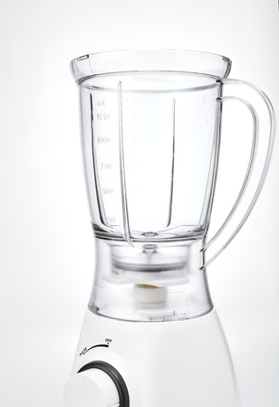 Blender - Empty white electric juice blender on a white background