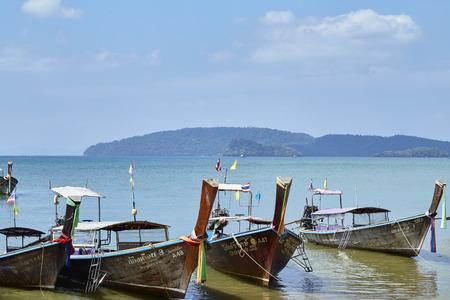Krabi, Thailand, Feb 04 2018, Holiday in Thailand - Beautiful Island of Krabi with Sandy Beaches