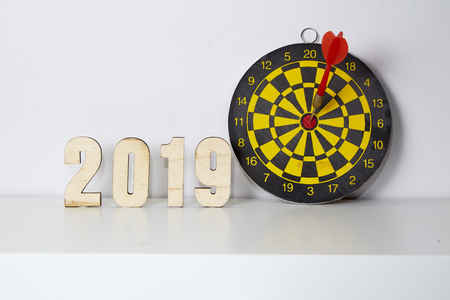Target Business goals in 2019 , Experiences, ideas and goals that will lead to success. Stock Photo