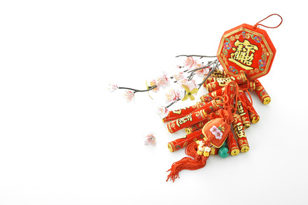 2019 Chinese new year & lunar new year holiday background concept, characters translation chinese wording on object mean good blessbless Stockfoto