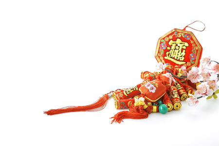 2019 Chinese new year & lunar new year holiday background concept, characters translation chinese wording on object mean good blessbless