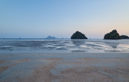 Summer travel in the Thai sea Krabi, Thailand Holiday in Thailand - Beautiful Island of Krabi with Sandy Beaches