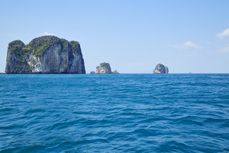 Koh Nok, Pranang Cave Beach, Rai Leh (Railay), Andaman Coast, Krabi Province, Thailand, Southeast Asia, Asia Stock Photo