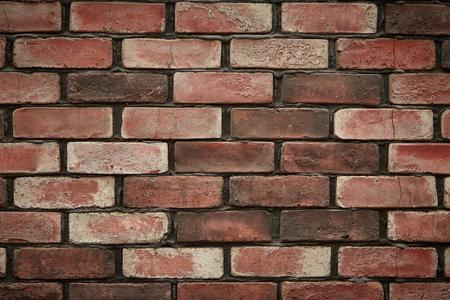 Natural red bricks wall masonry pattern texture Imagens