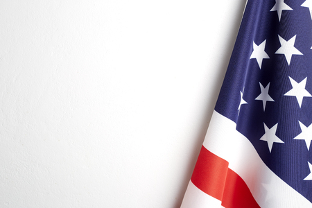 4th of july independence day American flags white background Empty space for text Reklamní fotografie