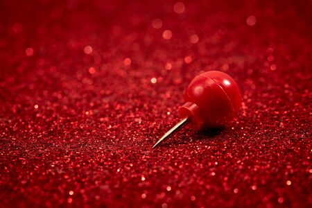 Red pin with glitter for background of Valentine day 版權商用圖片