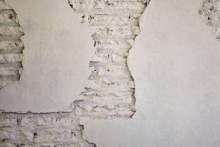 Nouveau fond de corrosion de mur de briques blanc texturé pour la conception de bannières Banque d'images