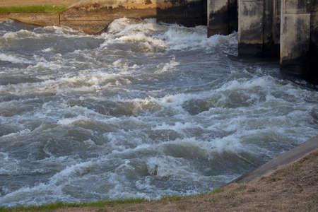 Water power of background, Hydro Power Electric Dam