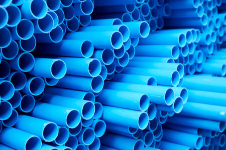 Blue pipe blue Water pvc for background