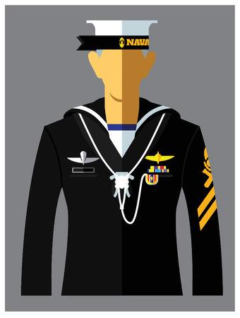 a kind of navy uniform.