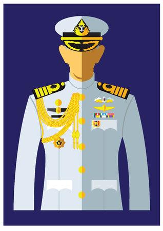 a kind of navy uniform