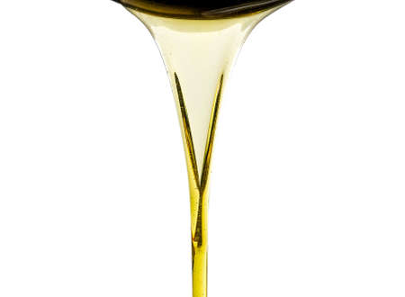 Pouring fresh automotive engine oil (lubricating oil, yellow liquid oil) into a motor car isolated on white background. Change new oil. Maintenance, service, and energy fuel concept.