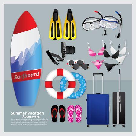 sunglasses recreation: Summer Vacation Time Illustration