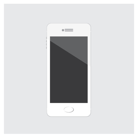 modern palmtop: Vector Illustration Mobile Phone White isolated on white Background