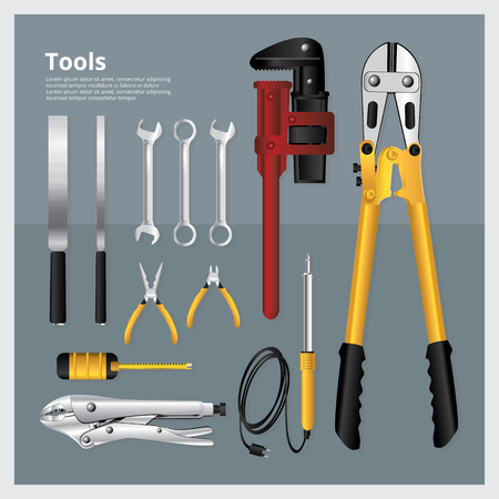 rasp: Set of Tools Collection Vector Illustration Illustration