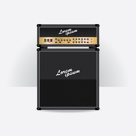 Guitar amplifier set vector illustration