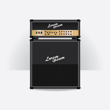 guitar amplifier: Guitar amplifier set vector illustration