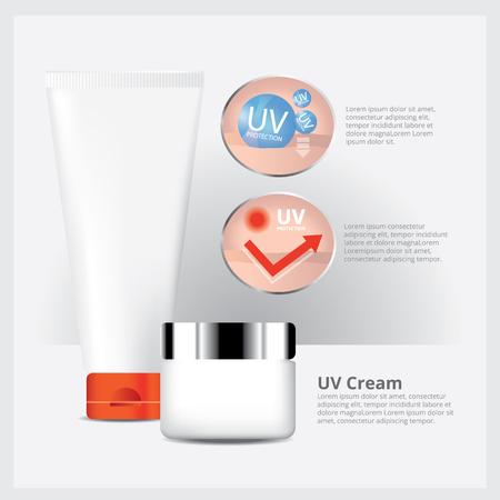 sun screen: UV Cream Protection & Sun Screen Illustration