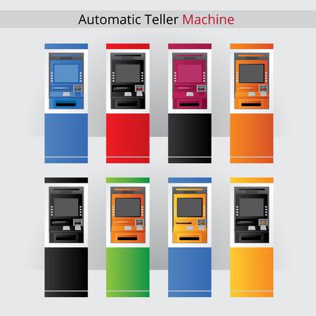 automatic teller machine: Atm. Illustration Automatic Teller Machine