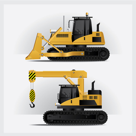 earth mover: Construction Vehicles Illustration