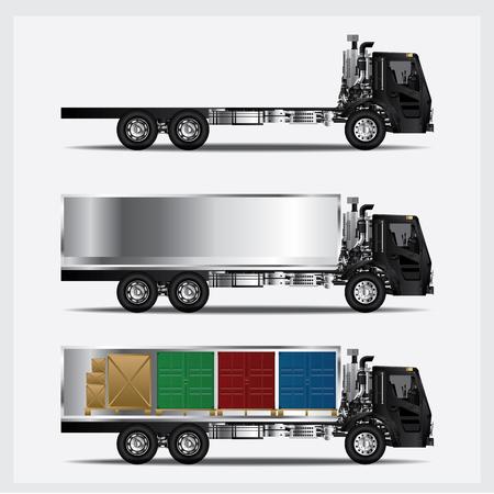 Cargo Trucks Transportation isolated Vector Illustration Illustration