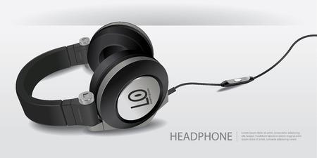 Realistic Headphones Isolated Vector Illustration Illustration