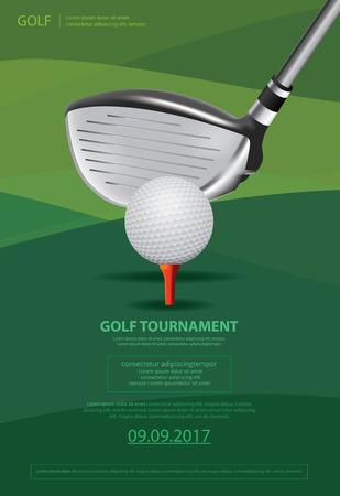 Poster Golf vectorillustratie Stock Illustratie