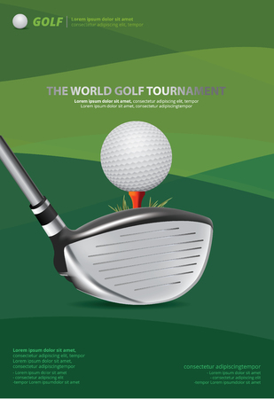 ゴルフ ベクトル イラストのポスター