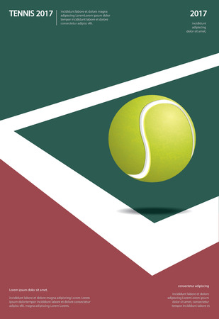 Tennis Championship Poster Vector illustration Illusztráció