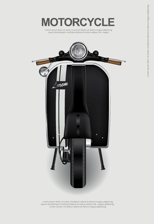 car isolated: Vintage Motorcycle isolated Vector Illustration