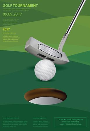 포스터 골프 벡터 일러스트 레이션 일러스트