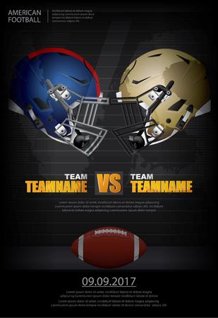 アメリカン フットボール ベクトル イラストのポスター。