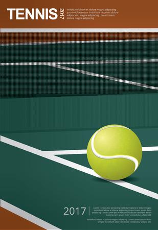 Tennis Championship Poster Vector illustration Ilustração