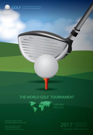 골프 선수권 대회 포스터 그림입니다.
