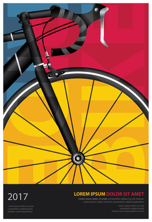 Cycling Poster Vector Illustration Çizim