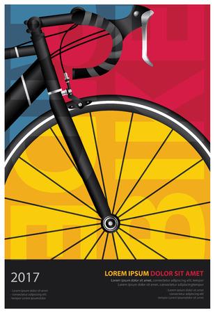 Ilustracja wektorowa plakat rowerowy